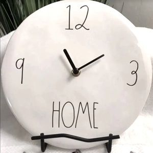 Rae Dunn HOME Ceramic Wall Clock NWOT